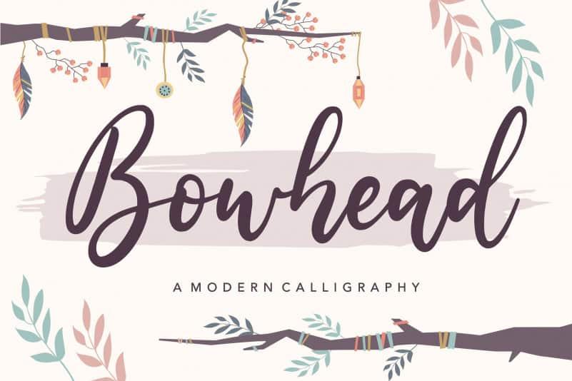 Bowhead Modern Calligraphy Font