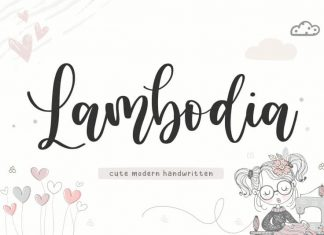 Lambodia Modern Handwritten Font