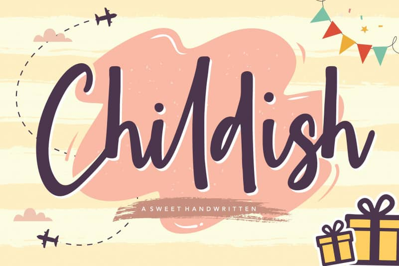 Childish Sweet Handwritten Font
