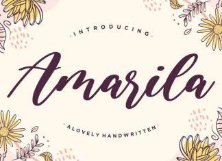 Amarila Lovely Handwritten Font