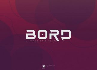 Bord Display Font