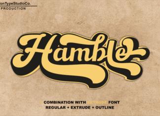 Hamble Bold Script Font