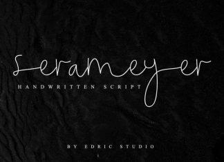 Serameyer Handwriting Font
