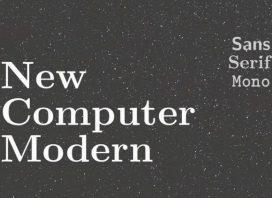 New Computer Modern Serif Font
