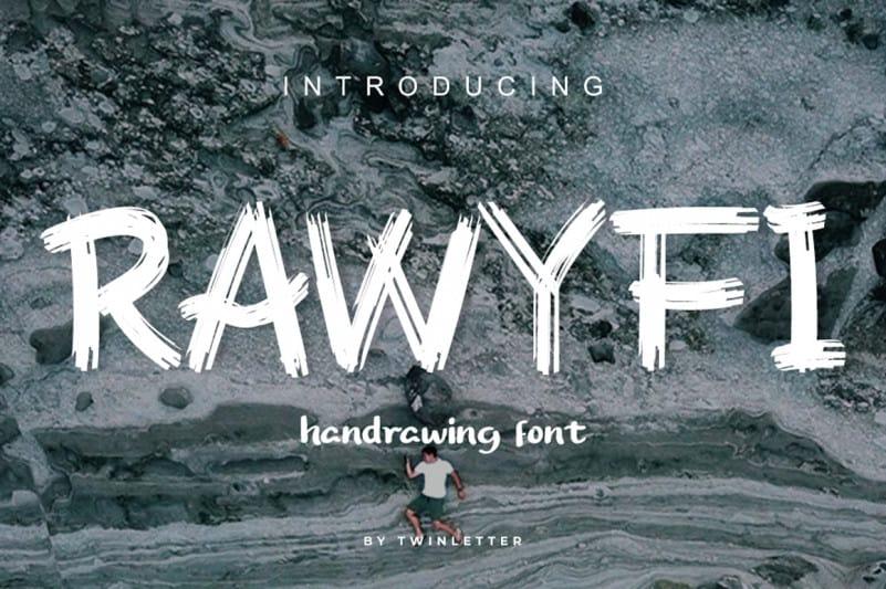 Rawyfi Brush Font