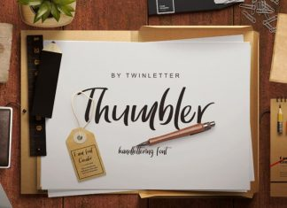 Thumbler Script Font