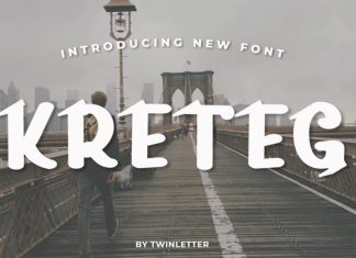 Kreteg Display Font