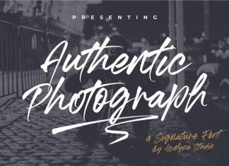 Authentic Photograph Signature Font