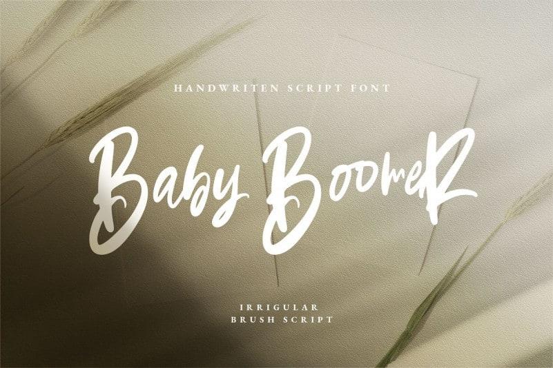 Baby Boomer Bold Script Font
