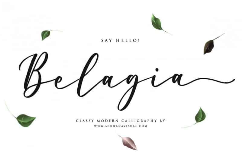 Belagia Calligraphy Font