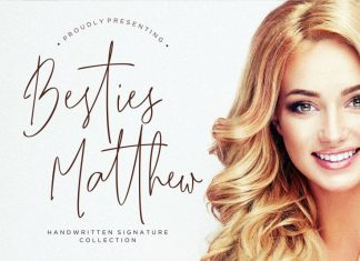 Besties Matthew Handwritten Font