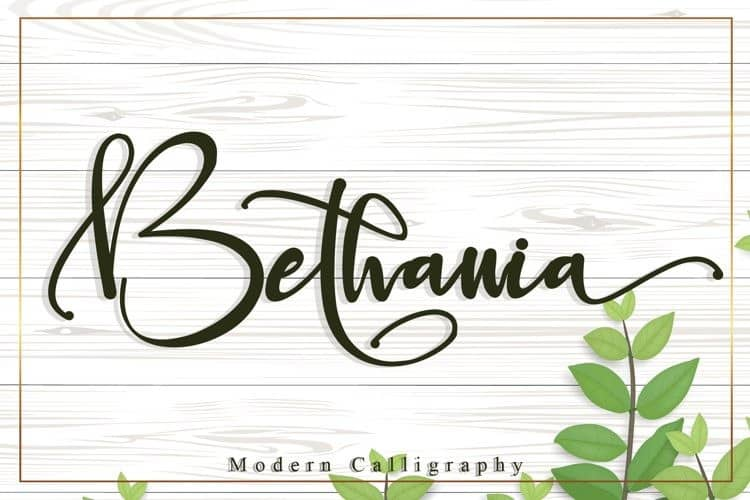 Bethania Calligraphy Font