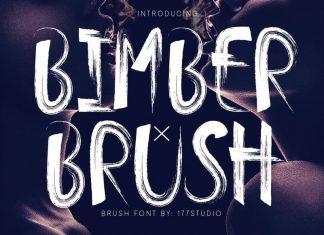Bimber Brush Font