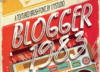 Blogger 1983 Brush Font