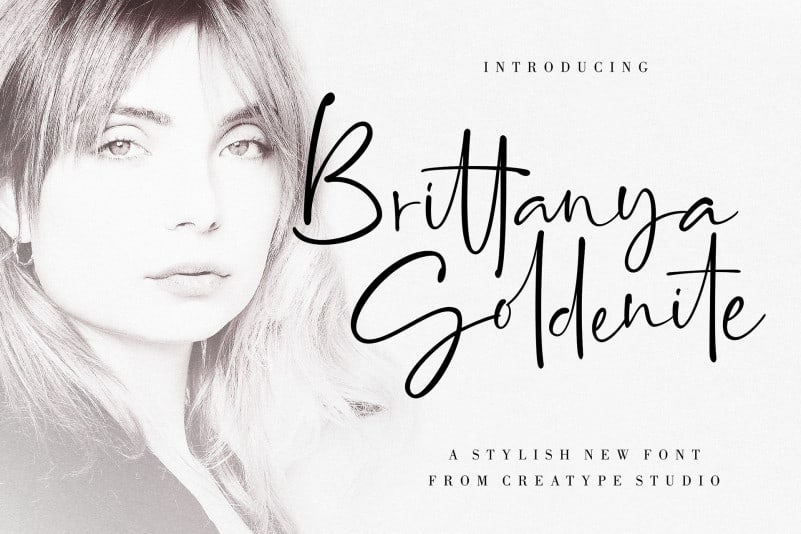 Brittanya Goldenite Script Font