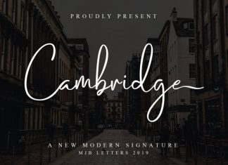 Cambridge Handwritten Font
