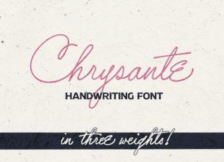 Chrysante Handwritten Font