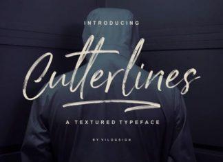 Cutterlines Brush Font