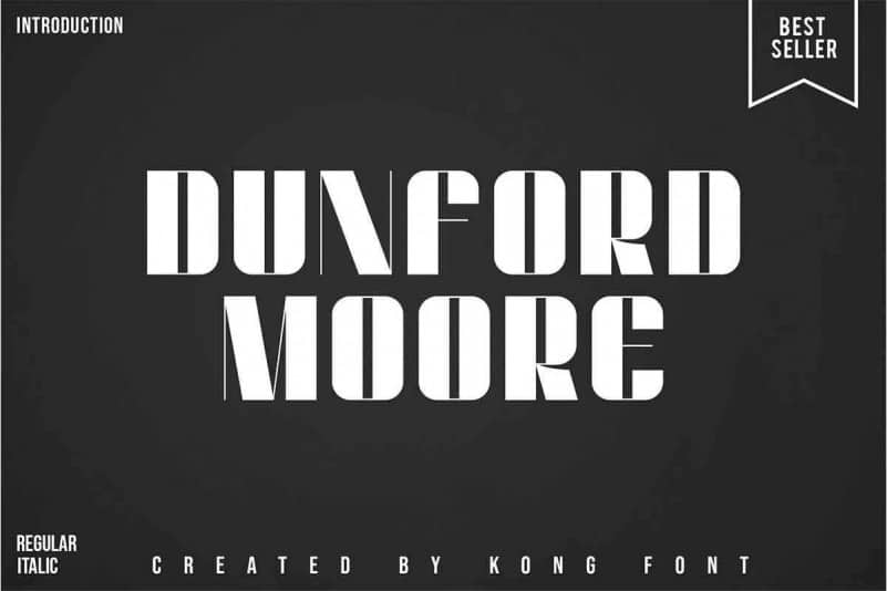 Dunford Moore Display Font