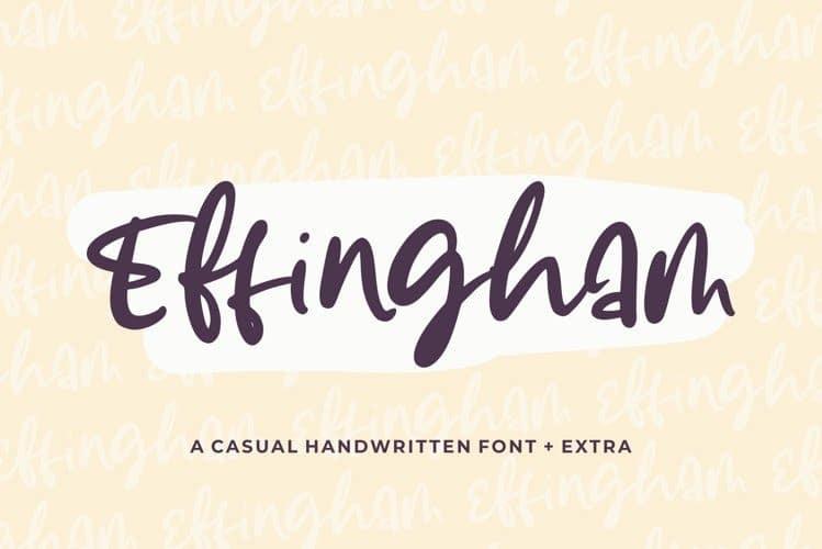 Effingham Script Font
