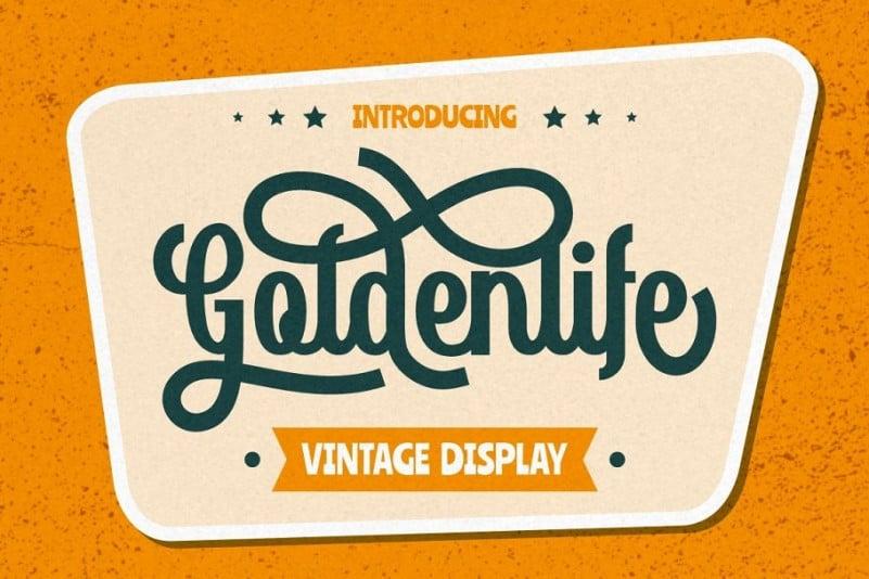 Goldenlife Display Font