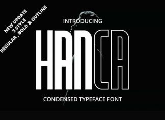 Hanca Display Font