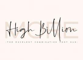 High Billion Font Duo