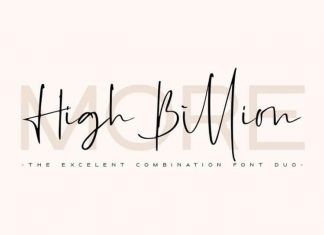 High Billion Font Duo