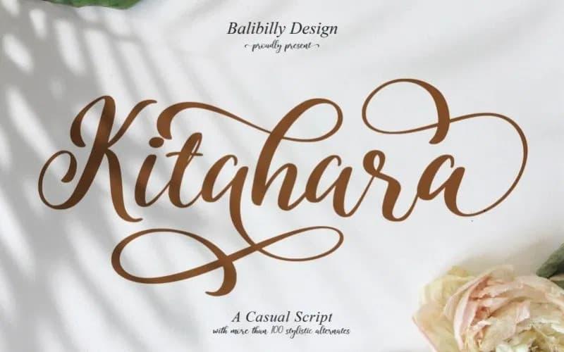 Kitahara Calligraphy Font