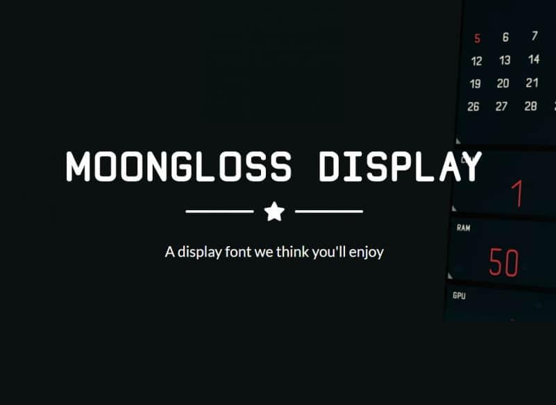 Moongloss Sans Font Family