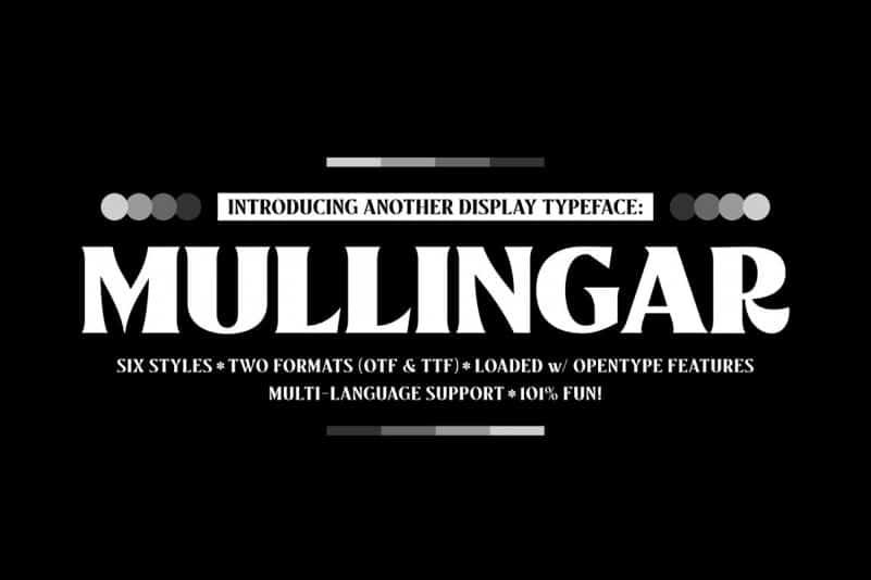 Mullingar Serif Font