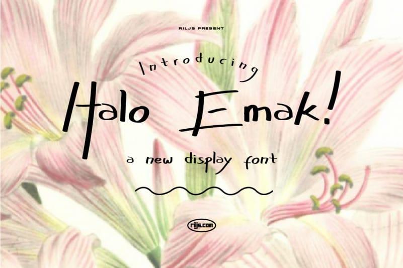 Halo Emak! Script Font
