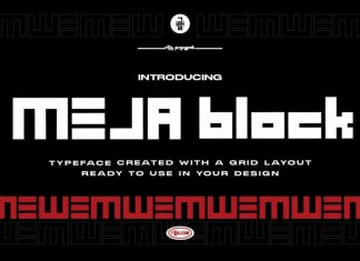 MEJA Block Display Font