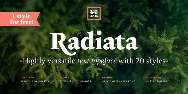 Radiata Serif Font Family
