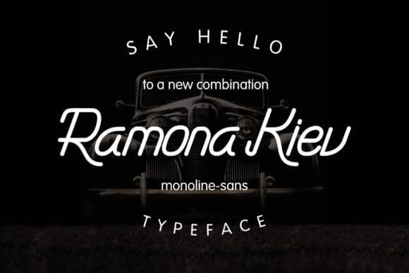 Ramona Kiev - Monoline Font