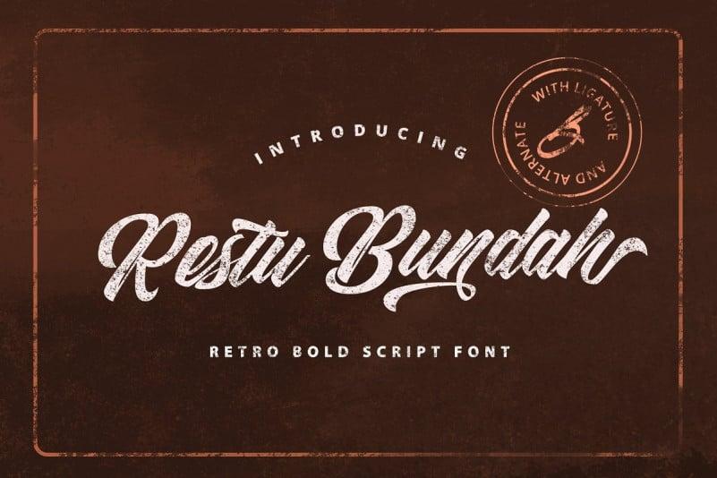 Restu Bundah Script Font