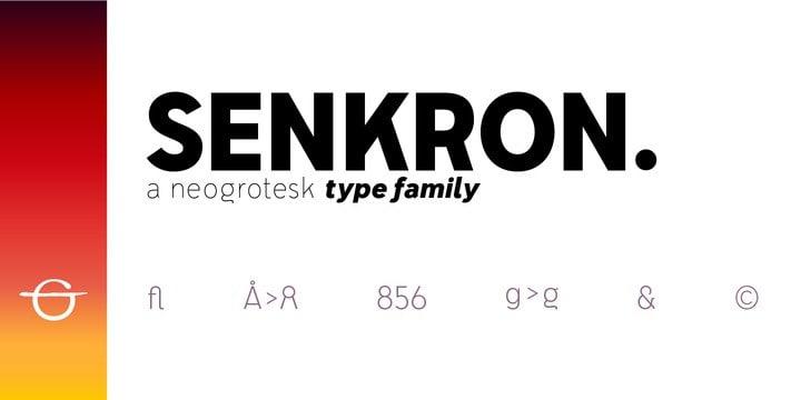 Senkron Font Family