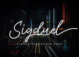 Sigduel Signature Font