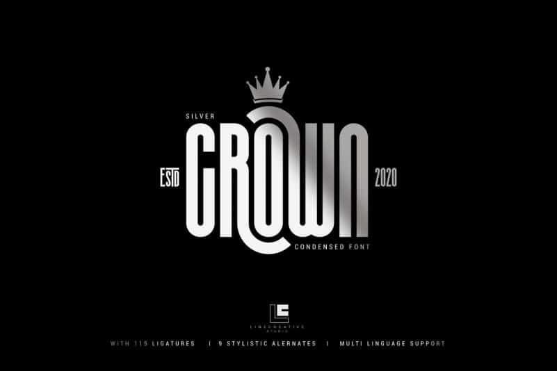 Silver Crown Display Font