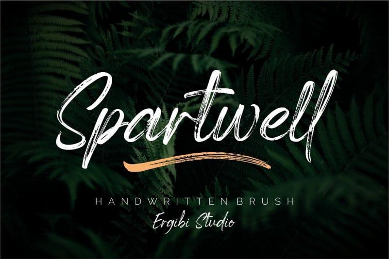 Spartwell Brush Font