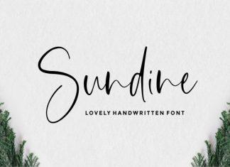 Sundine Handwritten Font