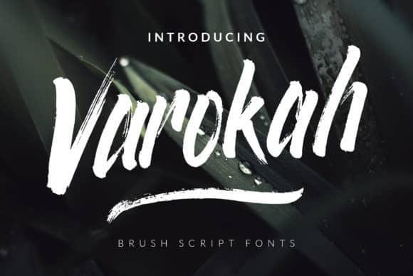 Varokah Brush Font