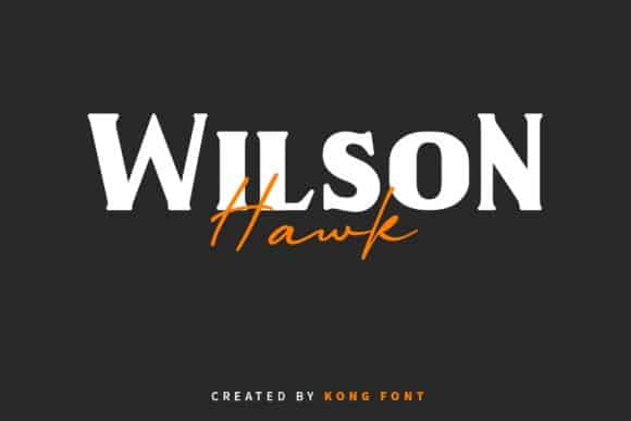 Wilson Hawk Serif Font