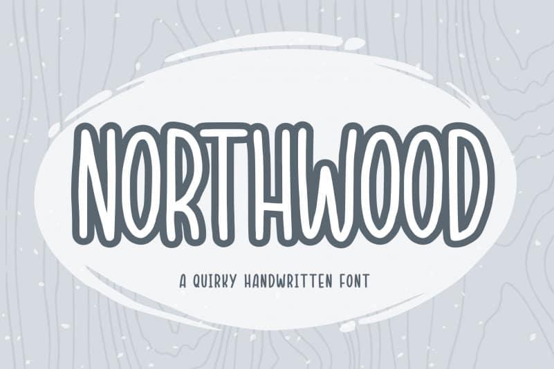 Northwood Quirky Handwritten Font