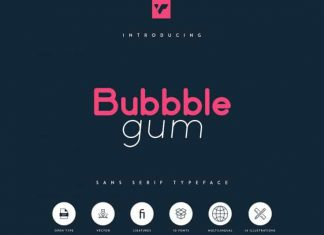 Bubbble Gum Sans Serif Typeface