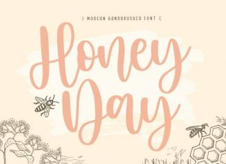 Honeyday Modern Handbrushed Font