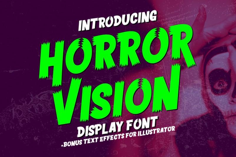 Horror Vision Display Font
