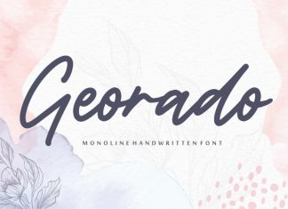 Georado Monoline Handwritten Font