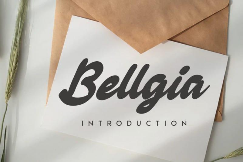 Bellgia Handwritten Font