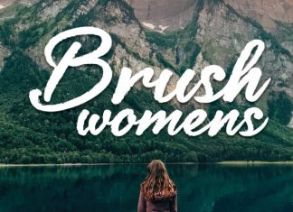 Brush womens Script Font